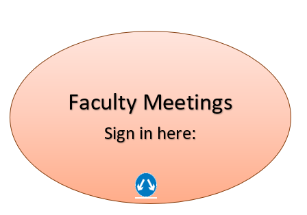 Faculty Meeting: Sign in here