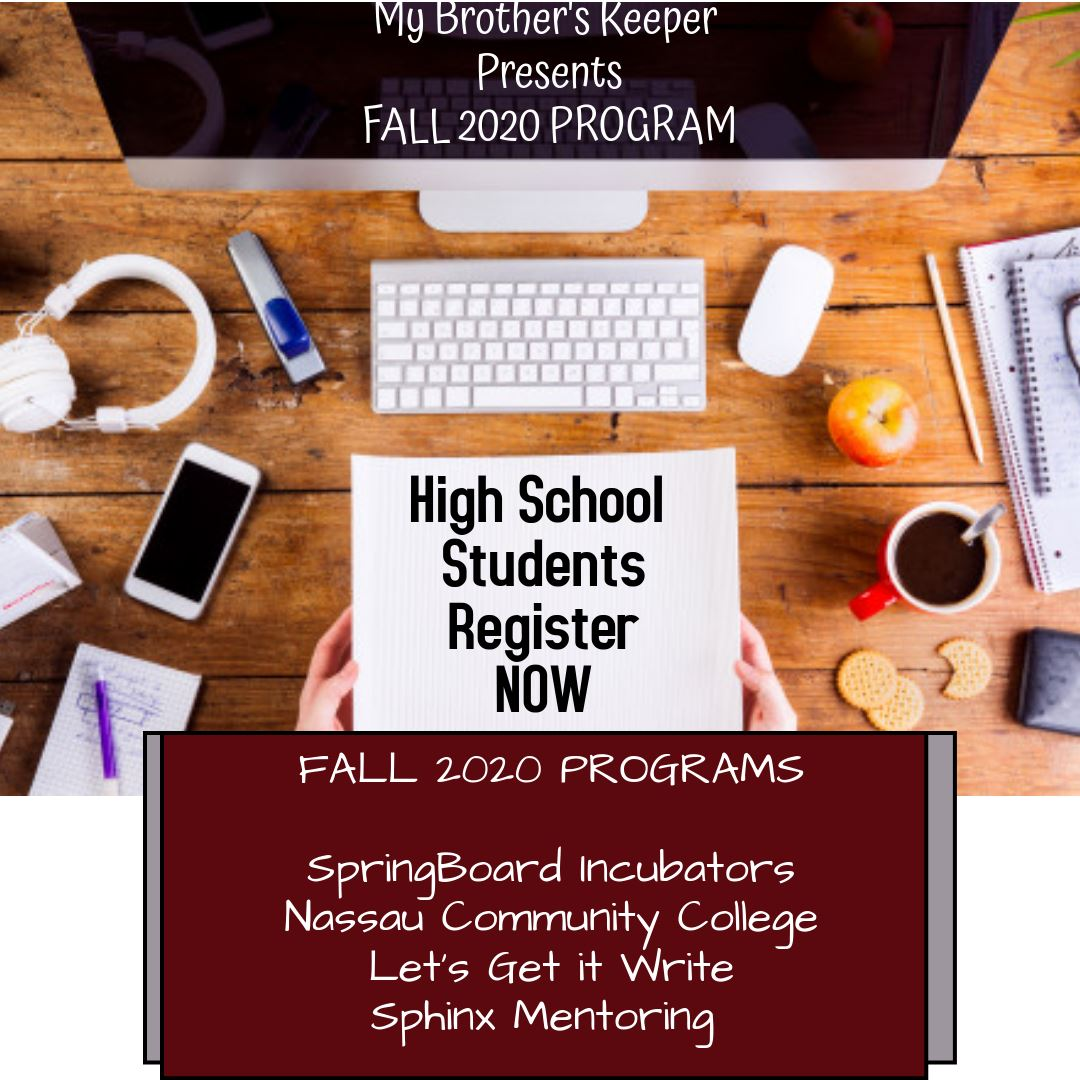 Fall 2020 Program for High School Students