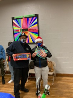MBK -Trustee Johnson HPS Board President Supports Christmas Toy Drive Kennedy Park