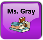 purple button with books
