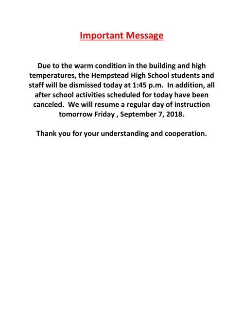 HHS Message