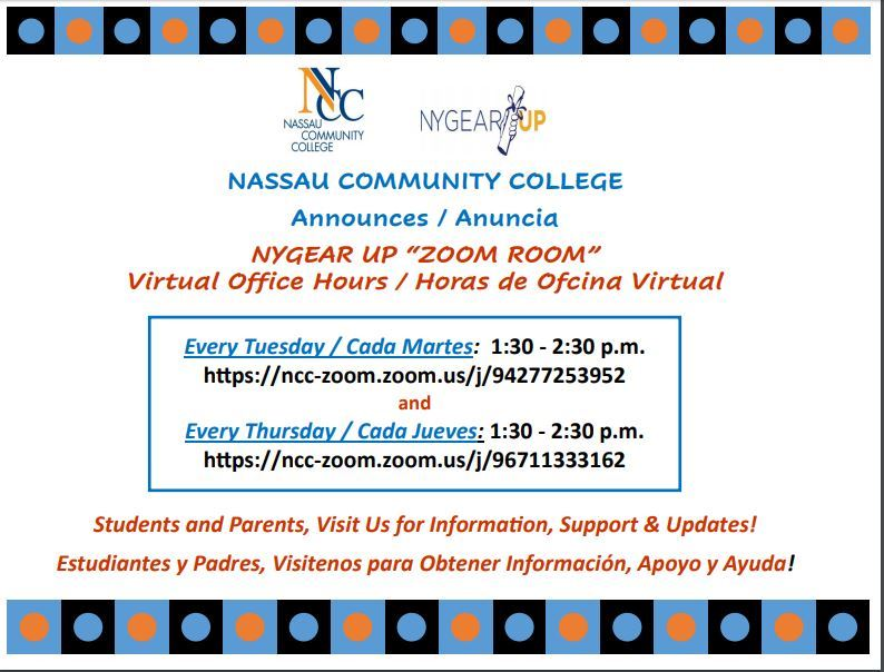 NCC GEAR UP VIRTUAL OFFICE HOURS