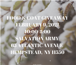 food and coat giveaway