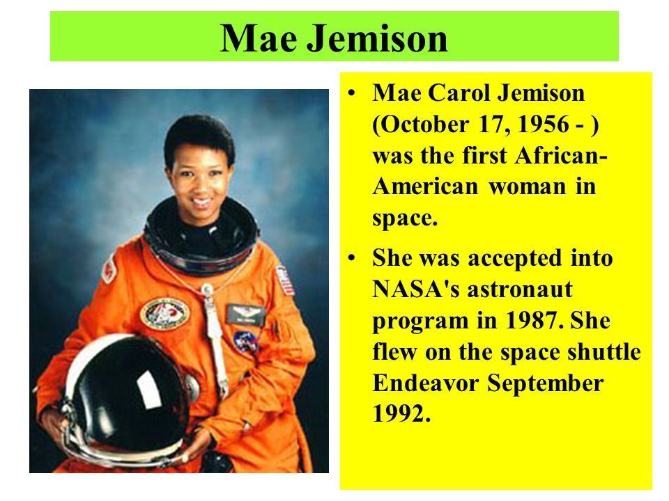 First African-American Woman in Space