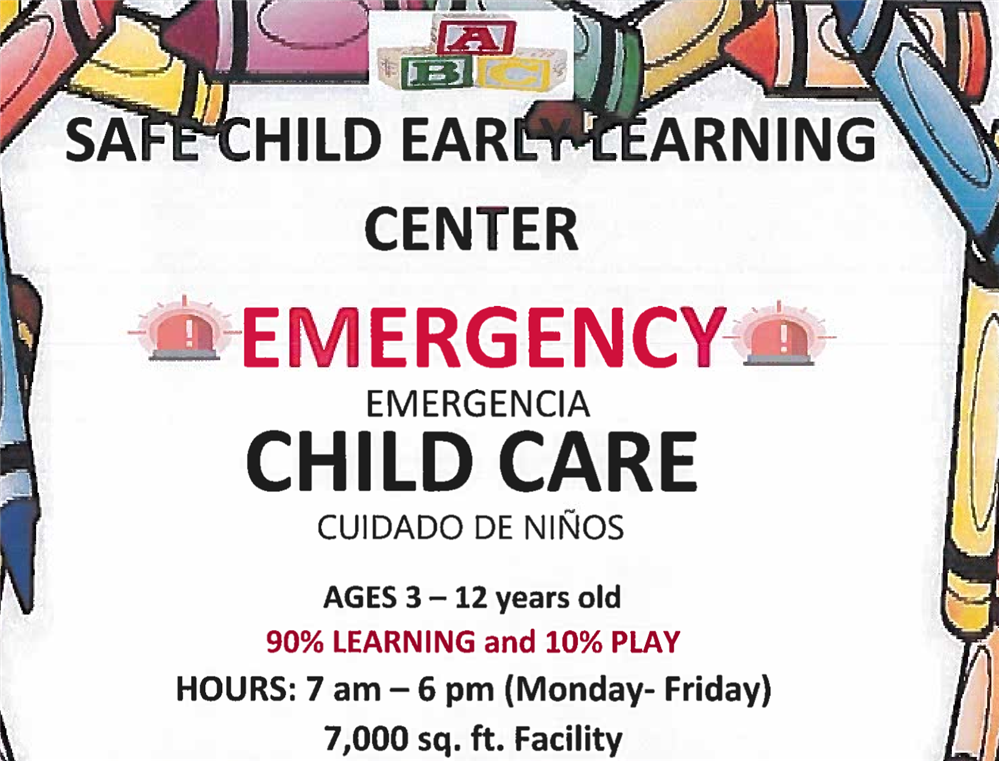 Emergency Child Care - Emergencia Cuidado De Ninos