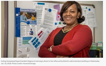 NewsDay Article: Regina Armstrong Named Acting Superintendent of Hempstead Schools