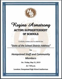 State of the School District Address - Click here to view flyer