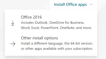Choose Office 2016